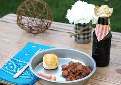 Western Party Food Ideas:  Beenie Weenies & Biscuits