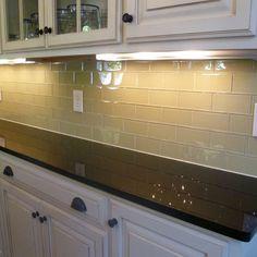 Glass Subway Tile Kitchen Backsplash - contemporary - kitchen - nashville - Peter Bales