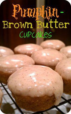butter cupcak, sweet, cupcakes, food, fall, pumpkins, recip, pumpkinbrown butter, dessert