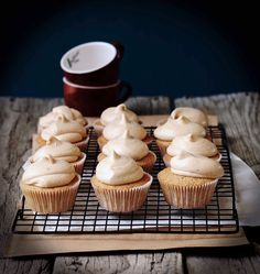 Milk and Honey: Cinnamon and Orange Cupcakes with Cinnamon Cream Cheese Frosting