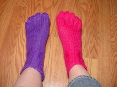 Loom Knit Toe Socks!