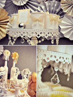 cup, desserts, dessert tables, idea, parti decor, paper butterfli, display, yellow, vintage style