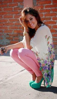 kimono, summer fashion, pastel, floral jeans outfit, color, shoe