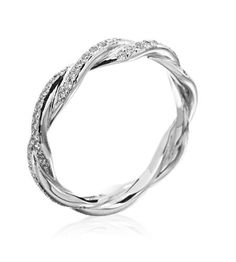 Infinity band - would go beautifully with a solitaire engagement ring or by itself as an anniversary gift :)  I'd go with hubby and my birthstones instead of diamonds.