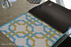 What a great way to add a soft touch to your desk!  @House on the Way used @Waverly fabric to #waverize a desk calendar!