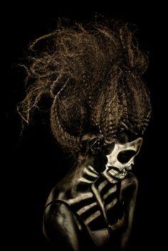 Gallery | Lauren Buckley Makeup Sick natural big hair skull art