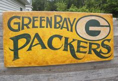 Green Bay Packers Sign original wooden sign by ZekesAntiqueSigns