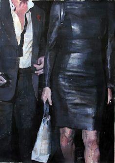 """François Bard, Tenues de soirée, 2014, Oil on Paper, 41¾"""" x 29½"""" #Art #BDG #BDGNY #Contemporary #Painting"""