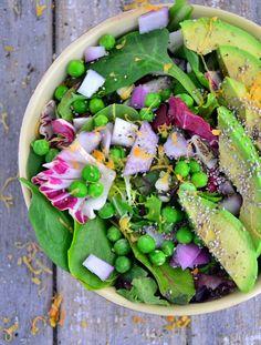 Recipe: Sweet Pea and Avocado Salad TheHealthyApple.com #glutenfree #recipe #healthy