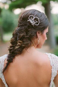 epic fishtail braid, photo by Ashleigh Jayne Photography http://ruffledblog.com/green-autumn-wedding-inspiration #weddinghair #hair #bridal