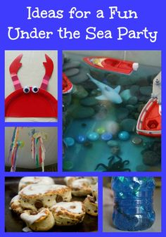 Plan Your Own Under the Sea Party -- great ideas for decorations, party activities & fun food!