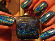 Holographic 3D nail polish  Lizard Belly by: Gliiter Gal