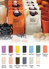 By selecting from a variety of colors, you can make your reception tables pop with color. Fill them with your favorite treat and your guest will walk away with a sweet taste in their mouth. Or if you're looking for a cute container for your guest to use at your candy buffet, these flat bottom bags will fill in nicely. Adorn the back with your own personal flare to create your own personal style favor bags. When opened, these bags have a flat bottom which will allow them to stand on their ...