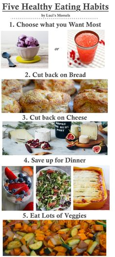 Luci's Morsels | Five Healthy Eating Habits for a Healthy Lifestyle and #weightloss #healthy #homemade