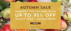 Save up to 75% on select items at our Autumn Sale. Ends 10/13.