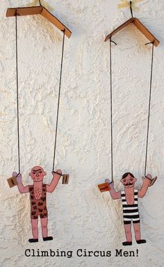 DIY Toys:  Make Climbing Circus Men Toys! I just adore their little macho hairy chests :) by @pinkstripeysock