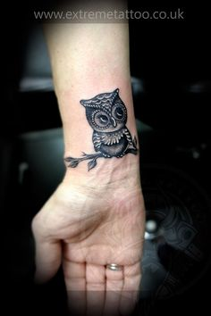 Owl tattoo,Gabi Tomescu.Extreme tattoopiercing. Fort William.Highland Tribal owl Tattoo