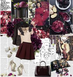"""Burgundy Chic"" by lacybow ❤ liked on Polyvore"