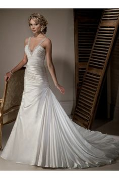 Taffeta high quality 2011 Wedding Dress formal A-line Silhouette