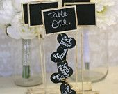 Rustic Wedding Seating Chart Table Numbers and Escort Cards