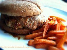 Teriyaki Turkey Burger and Roasted Carrot Fries