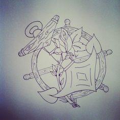 Nautical tattoo flash