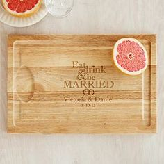 Eat Drink & Be Married Cutting Board #wedding #gifts