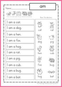 kindergarten homework sheet