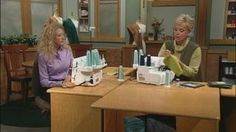 Serger Workshop, Part 1 Video from Sewing with Nancy. Serger expert Pam Mahshie joins Nancy to teach you how to serge knit seams, chain stitch patchwork, serge wrapped corners, serge decorative edges, and more--all in a serger workshop you can attend in the comfort of your home. Test drive a Cording Foot and an Elastic Foot for your serger using an easy 3- or 4-thread overlock stitch.