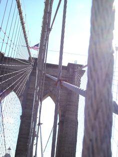 Brooklyn Bridge.   New York, New York.