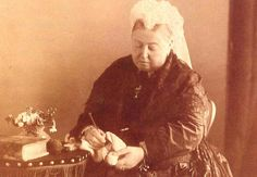 Queen Victoria Crocheting, 1889