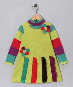Yellow Ruffle Corduroy Jumper - Toddler by Gerson & Gerson