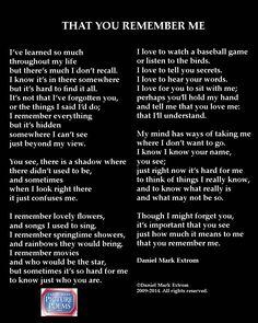 An Alzheimer's Poem