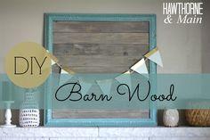 DIY Barn Wood Picture Frame - Princess Pinky Girl