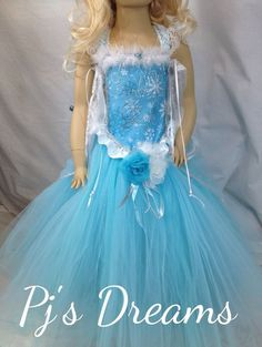Elsa Disney Frozen inspired frozen Birthday Girl tutu dress costume store party