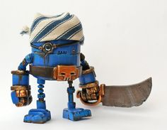 Rusty Robots Blue Piratebot by Spacecowsmith on Etsy, £80.00