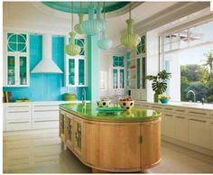 Turquoise Backsplash