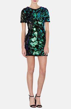 Topshop Sequin Velvet Shift Dress from @Nordstrom