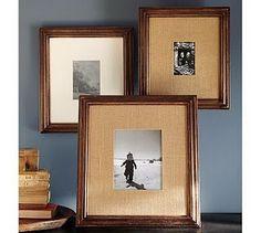 DIY burlap frames, another pottery barn knock off!