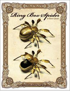 Art Deco Steampunk Ring Box Spider