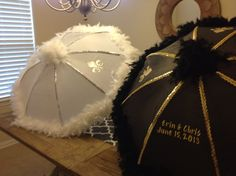 Second line wedding umbrellas.  Wedding custom in Louisiana.