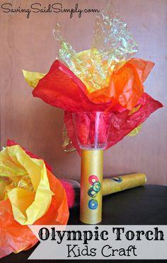 Saving Said Simply: Olympic Torch Kids Craft #Olympics