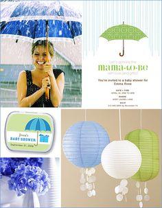 Sprinkle Baby Shower #baby #shower #decoration #rain #umbrella