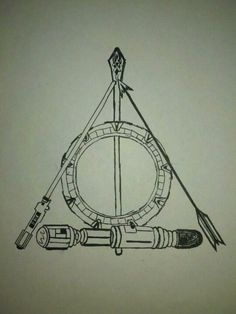 My daughter drew this earlier this year as a tattoo idea for the ubergeek inside. It covers: Doctor Who, Stargate, Harry Potter, Star Wars, Lord of the Rings and The Hunger Games....for me I'd switch out Stargate for Firefly.