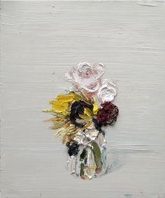 wall art, oil paintings, texture flower painting, allison schulnik, painting art, artillustrationdraw inspir, paint art