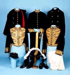 Various diplomatic uniforms.