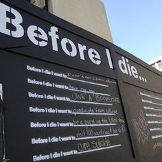 """4 Cool Ideas for Youth Groups Too: """"Before I Die"""" Wall, FB Compliment Pages, Happiness Clubs, and """"Chalk Ins"""""""