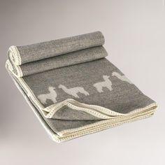 Alpaca Wool Throw Blanket | World Market
