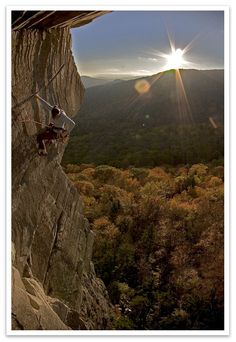 Photographer: Pat Goodman. Climber: Jessa Goebel. First Flight; Ship Rock; Boone, NC. bolderznwallz.blogspot.com