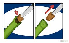 Use a Knife | 7 Ways To Open A Bottle Of Wine Without A Corkscrew